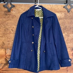 CAbi Peacoat- Navy with Gold Details